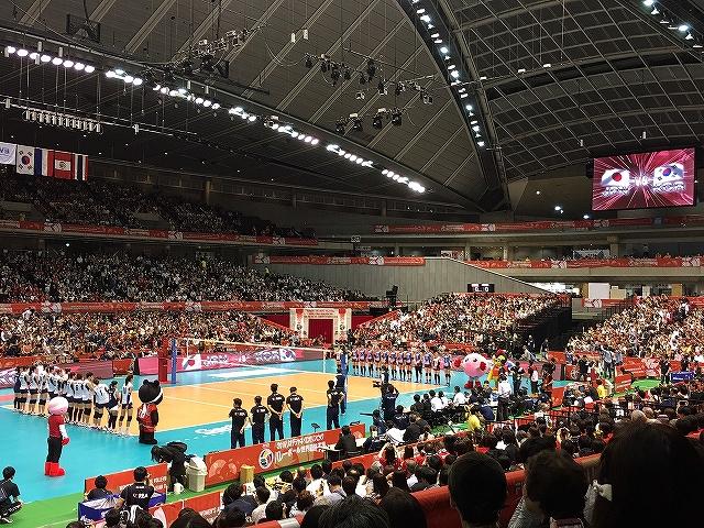 女子バレーオリンピック最終予選日本対韓国