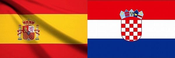 スペインVSクロアチア:EURO2016グループリーグD組欧州選手権