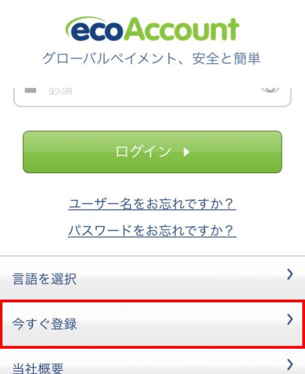 エコペイズ(ecoPayz)モバイル登録2