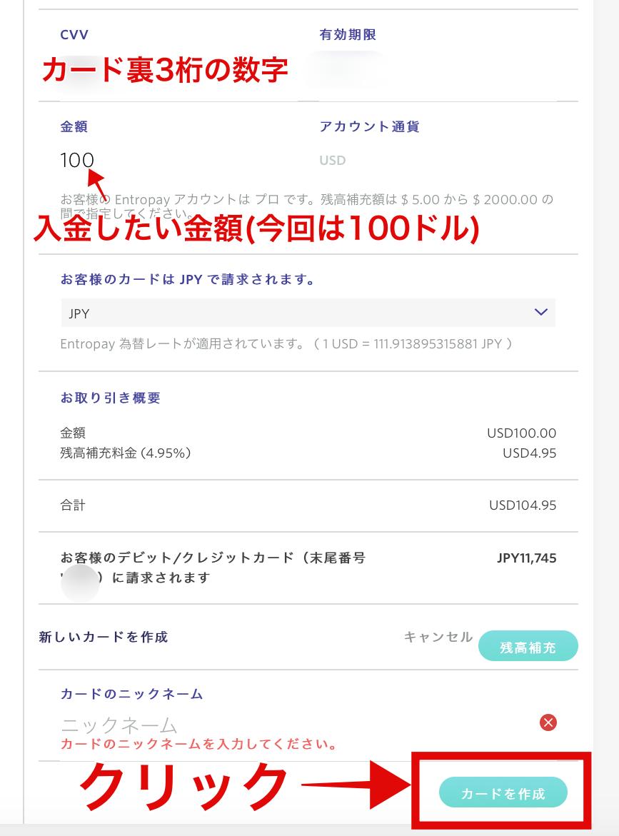 エントロペイ入金6 入金