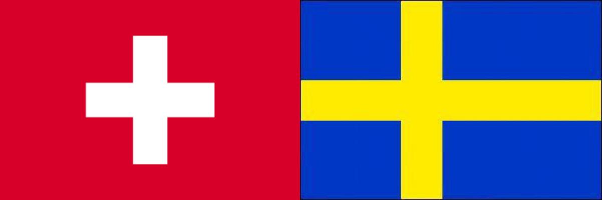 スイスVSスウェーデン:ロシアW杯決勝トーナメント1回戦