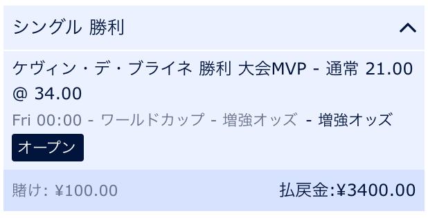 ケヴィン・デ・ブライネロシアW杯MVP予想