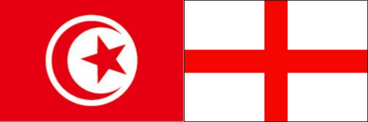 チュニジアVSイングランド:ロシアW杯グループリーグG