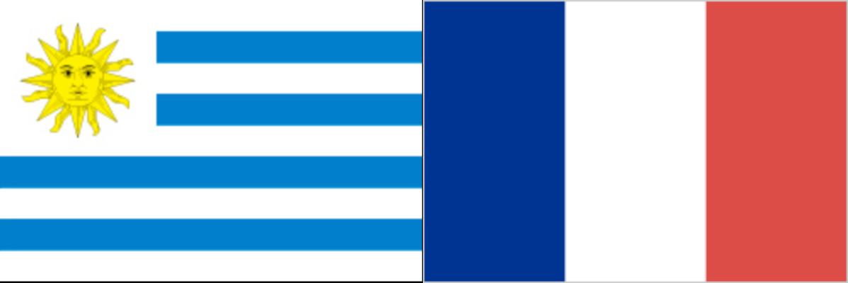 ウルグアイVSフランス:ロシアW杯ベスト8