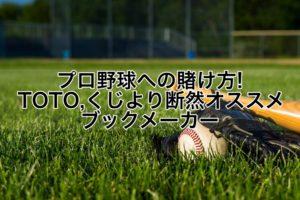 プロ野球への賭け方!TOTO,くじより断然オススメブックメーカー