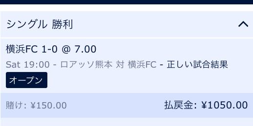 J2横浜FCの勝利に予想:ウィリアムヒル