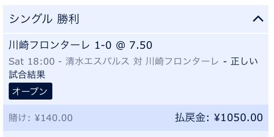 川崎フロンターレの勝利を予想:ウィリアムヒル