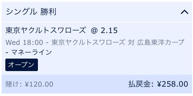 東京ヤクルトの勝利に予想