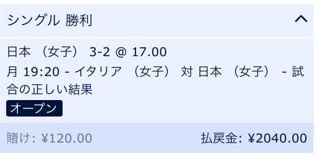 日本VSイタリア予想:2018世界バレー女子3次ラウンド