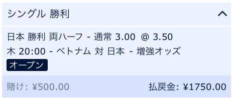 両ハーフで日本が勝利・アジアカップ・ベトナム戦・ベスト8・準々決勝