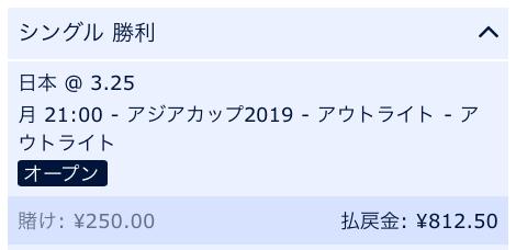 日本の優勝を予想・アジアカップ2019