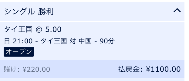 タイが勝利すると予想・アジアカップ2019・タイVS中国