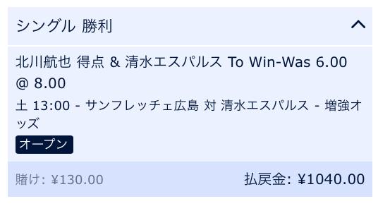 北川航也が得点を決め、清水エスパルス勝利と予想・Jリーグ開幕戦2019