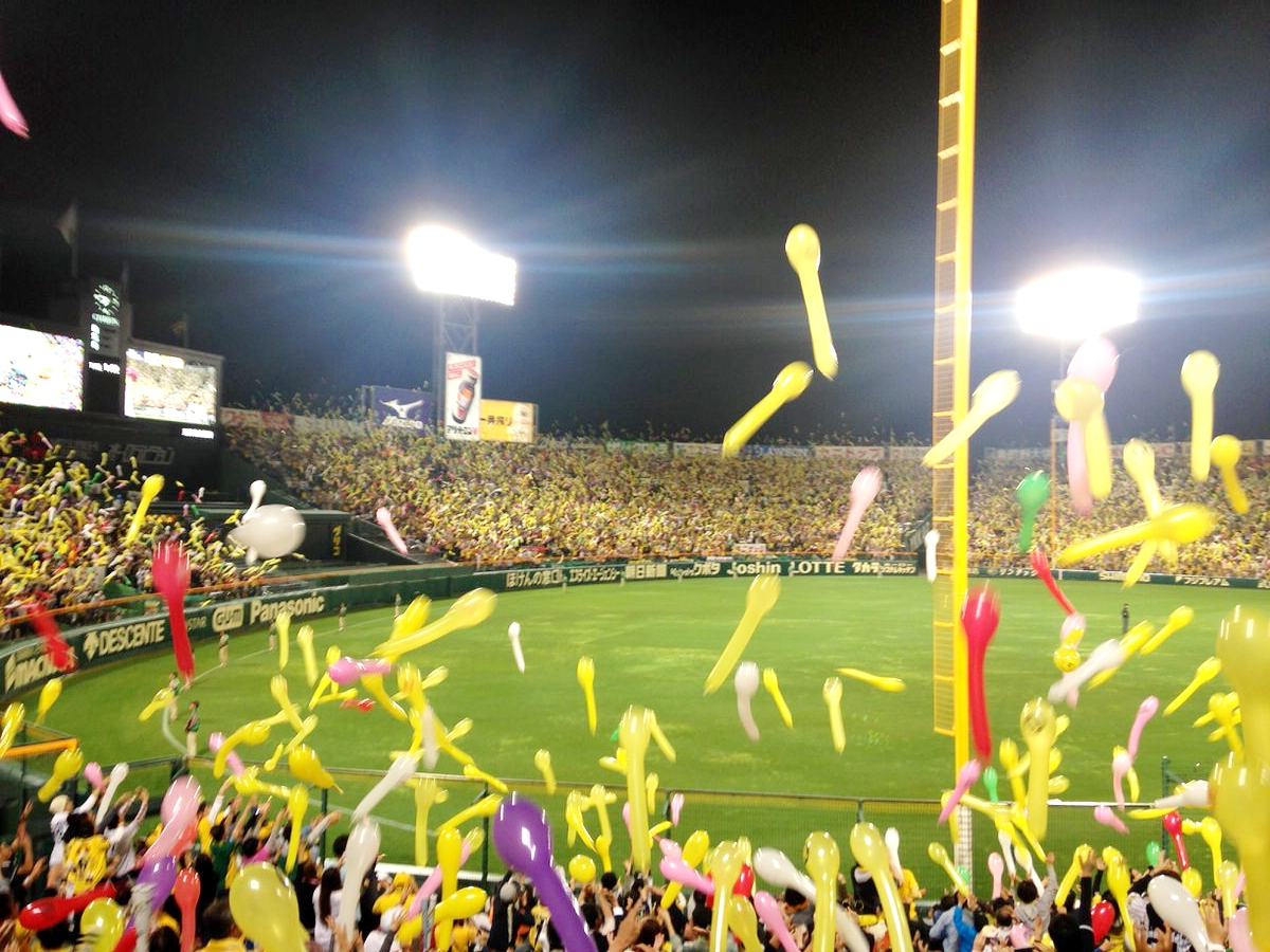阪神タイガース・甲子園球場3塁側からの景色