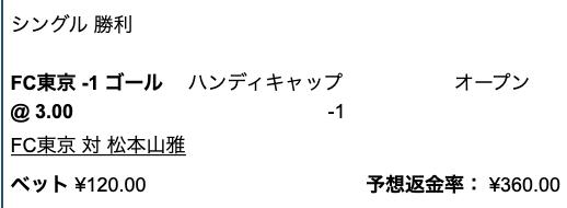 FC東京が2点差以上で勝利と予想