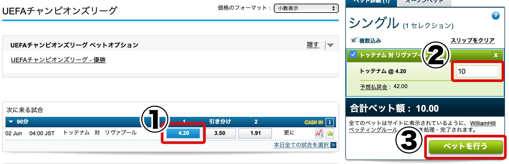 CL・チャンピオンズリーグ賭け方