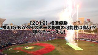 【2019】横浜優勝!横浜DeNAベイスターズ優勝の可能性は高い!?理由は…稼ぐチャンスも!