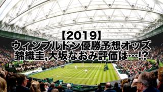 【2019】ウィンブルドン優勝予想オッズ!錦織圭,大坂なおみ評価は…!?