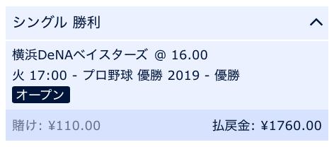 2019横浜DeNAベイスターズ優勝
