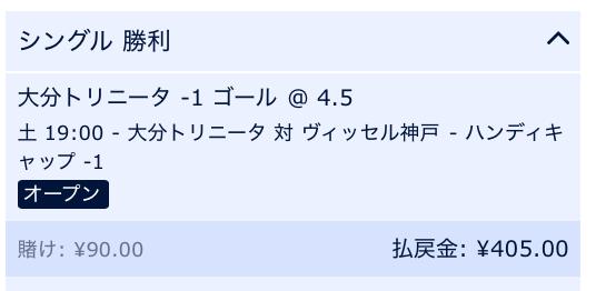 大分が2点差以上で勝利すると予想・大分対神戸・J1リーグ2019・第22節予想