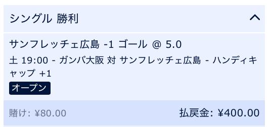 サンフレッチェ広島が勝利と予想・G大阪対広島・2019J1第22節
