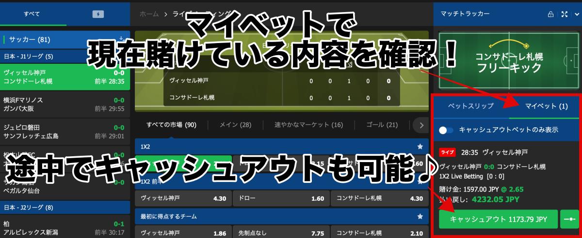10bet Japan ベット方法・賭け方遊び方2