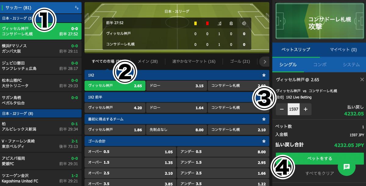 10bet Japan ベット方法・賭け方遊び方