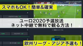 ユーロ2020予選放送,ネット中継で無料で観る方法!(欧州選手権)