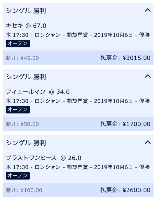 凱旋門賞・日本の馬を購入