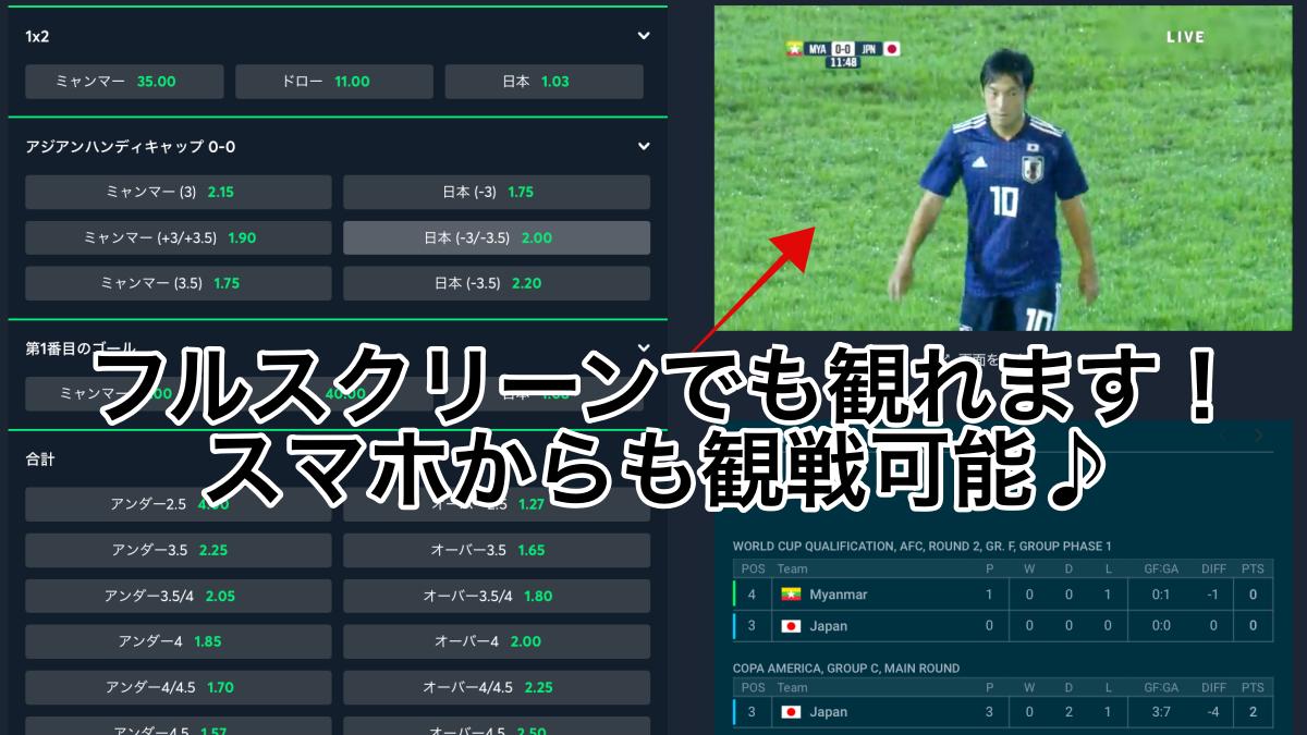 日本対ミャンマー・カタールW杯アジア2次予選・ネット無料動画視聴方法