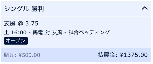 鶴竜戦・ウィリアムヒル