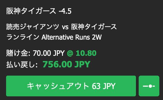 阪神タイガースが5点差以上で勝利する・2019ファイナルステージ