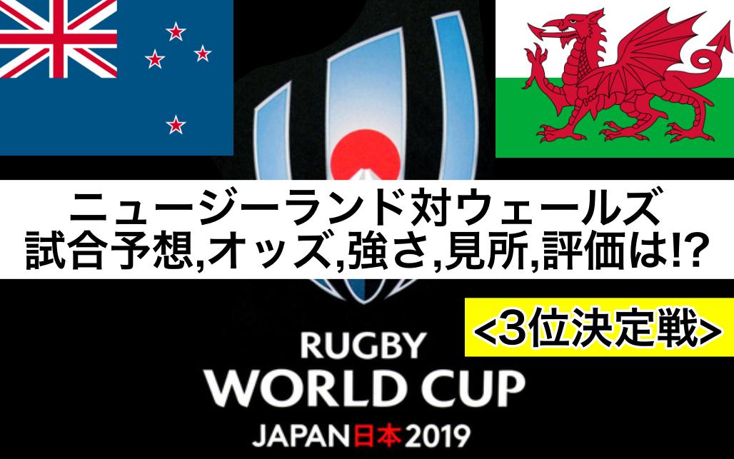 【ラグビーW杯2019】ニュージーランド対ウェールズ試合予想オッズ,強さ,見所,ランキング評価は!?