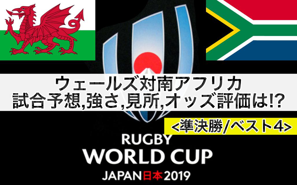 【ラグビーW杯2019】ウェールズ対南アフリカ試合予想オッズ,強さ,見所,ランキング評価は!?