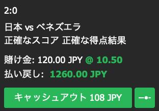 日本対ベネズエラ・日本が2-0で勝利すると予想