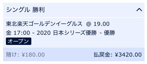 プロ野球2020優勝予想・東北楽天イーグルス