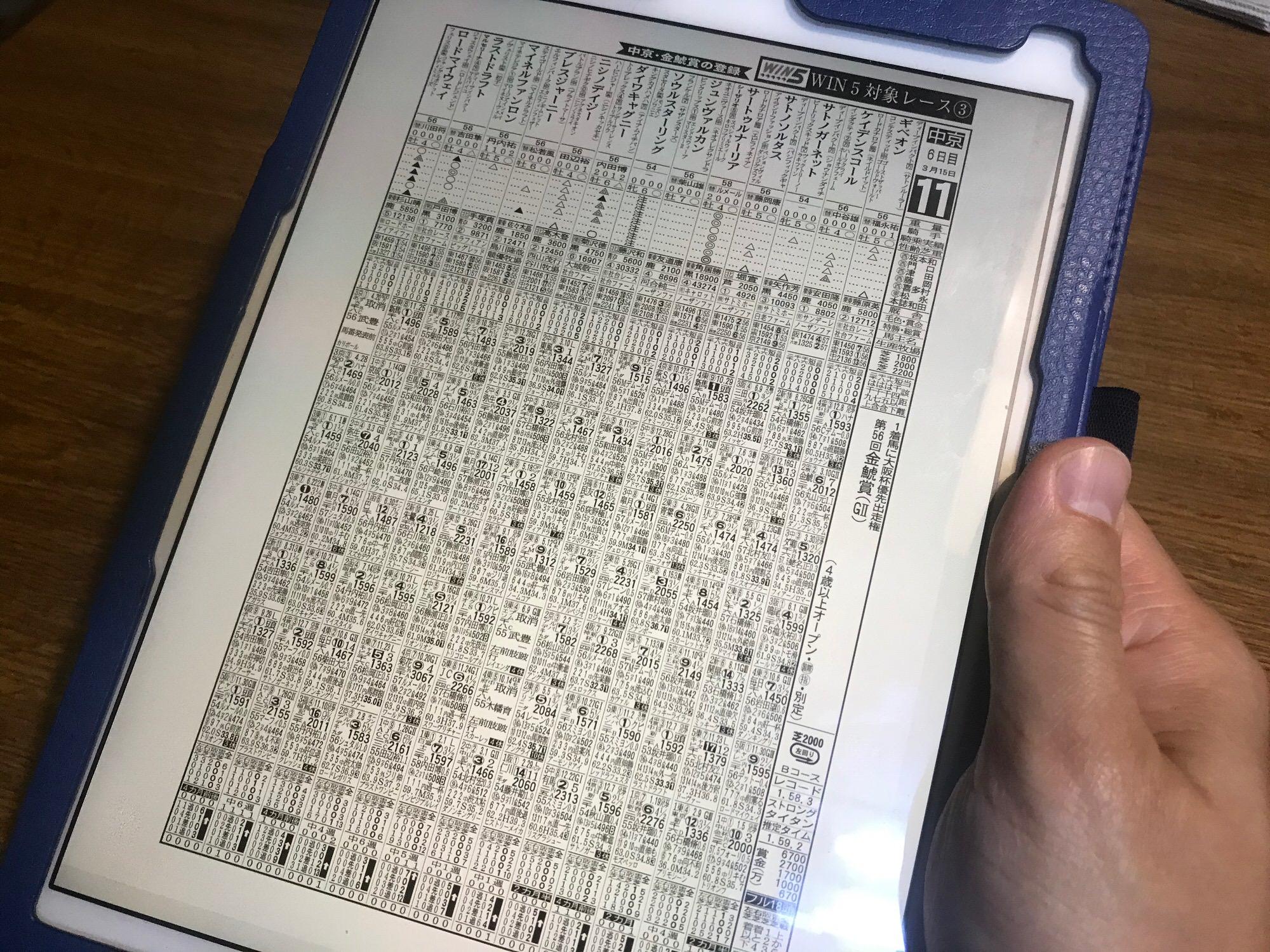 週刊ギャロップを電子書籍で読む!出馬表も見やすくおすすめ!