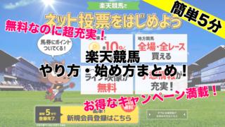 【簡単】楽天競馬始め方買い方!地方競馬馬券をネット購入するなら超絶オススメ!