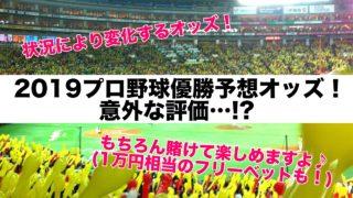 2019プロ野球優勝予想オッズ!意外な評価…!?(常に変化するのでぜひチェックしてみて!)