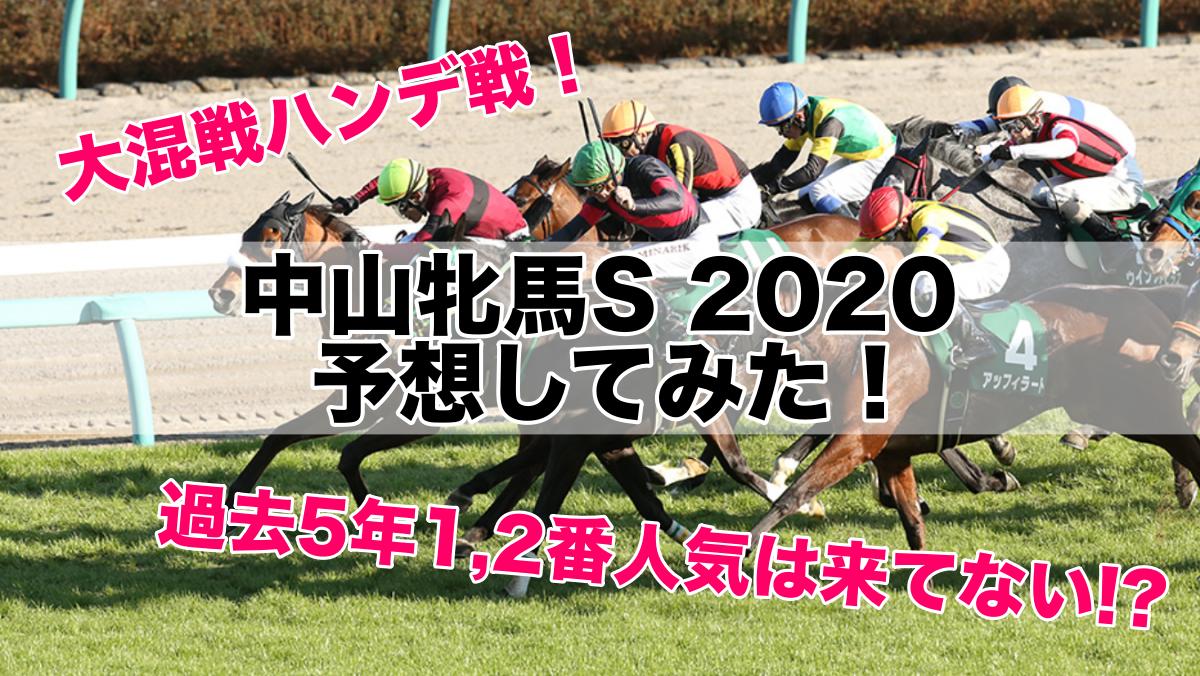 中山牝馬S2020(中山11R)予想&馬券購入!データ的に荒れるハンデ戦!?