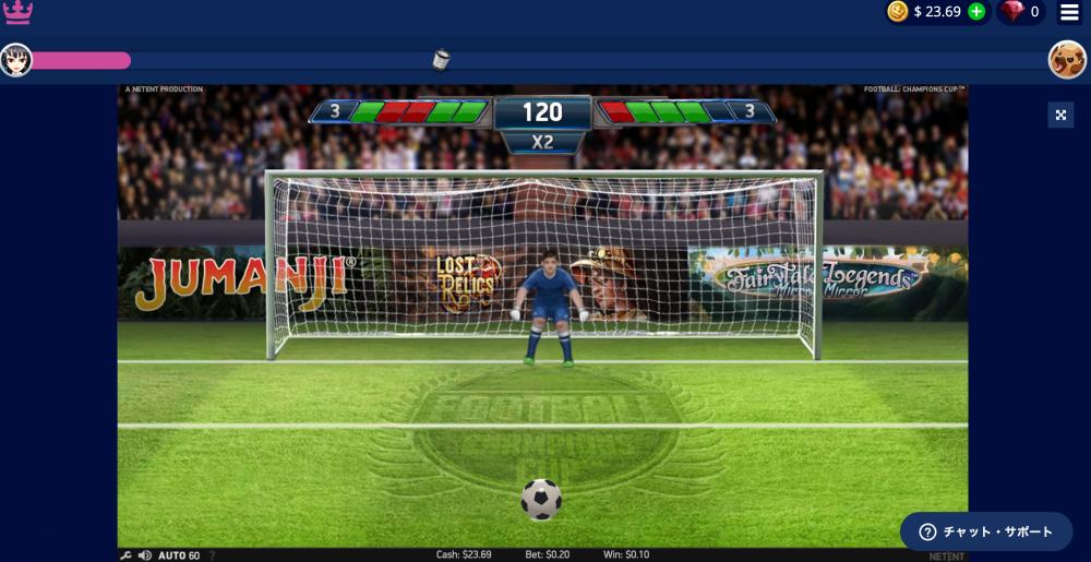 カジ旅・サッカーのスロット・フットボールチャンピオンズカップ9
