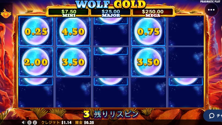 カジ旅スロット挑戦日記・ウルフゴールドwolfgold 入金不要ボーナス22