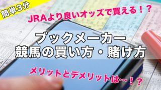 【簡単】ブックメーカーで競馬の買い方賭け方&メリットデメリット!