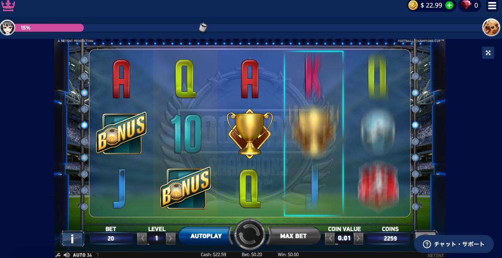 カジ旅・サッカーのスロット・フットボールチャンピオンズカップ11