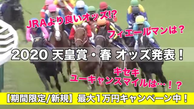 天皇賞春2020オッズ発表&購入!(予想&過去参考レース動画)