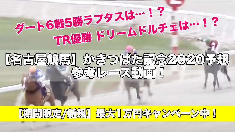 【名古屋競馬】かきつばた記念2020予想&参考レース動画!