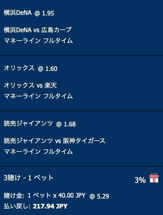 横浜DeNAベイスターズ・オリックスバファローズ・読売ジャイアンツが勝利する