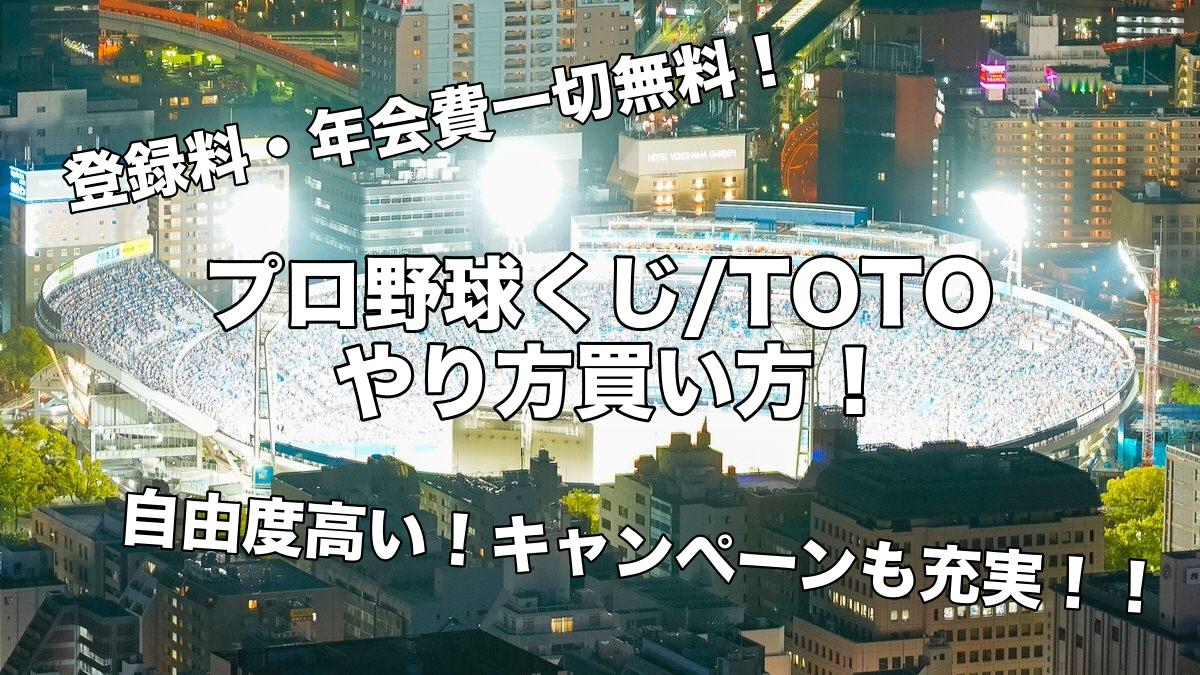 プロ野球くじ:TOTO やり方買い方!