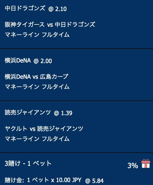 横浜DeNA・巨人・阪神が勝利すると予想