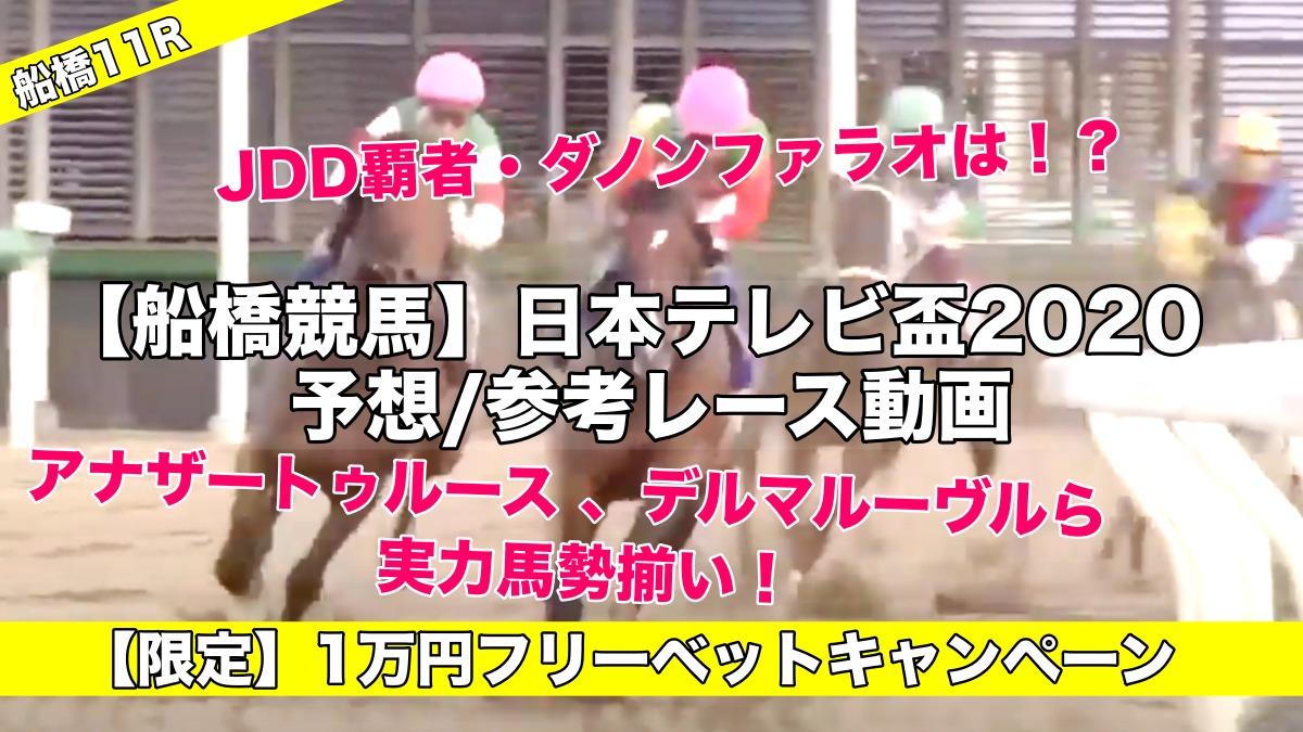 【船橋競馬】日本テレビ盃2020予想・参考レース動画!注目のダノンファラオは…!?